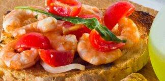 bruschette finger food crostacei