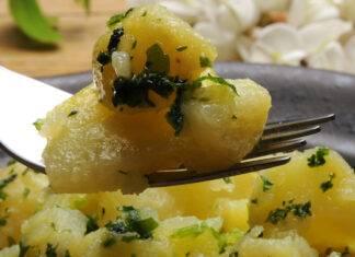 insalata di patate e cardi