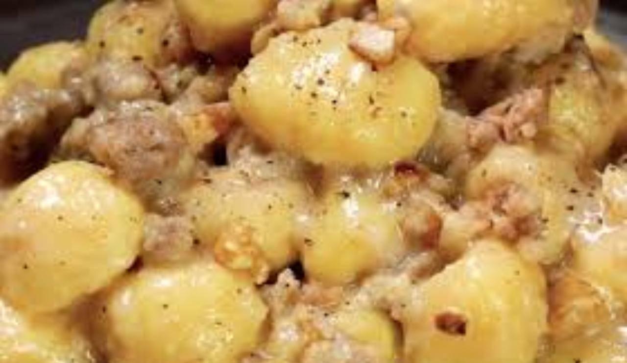 Gnocchi di castagne con taleggio e salsiccia ricettasprint