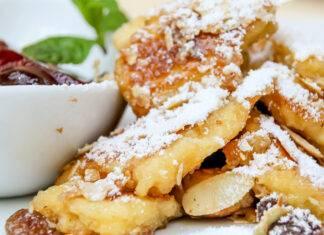 frittata dolce tirolese con marmellata di mirtilli