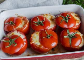 pomodori al forno con panna light