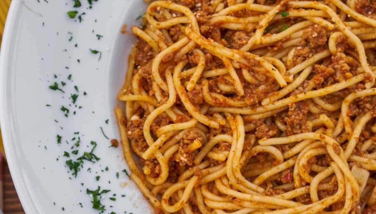 spaghetti ragù primo vegan