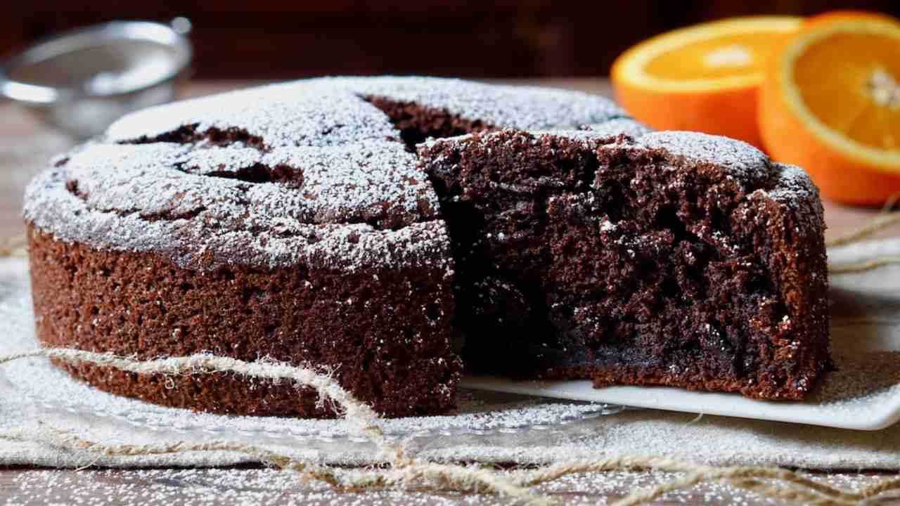 torta semplice cioccolato arancia