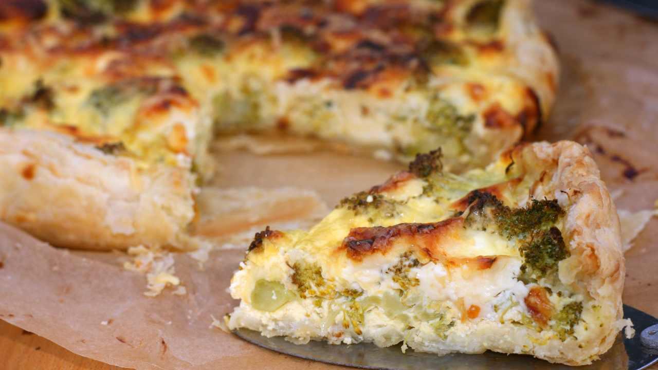 Torta salata broccoli e gorgonzola