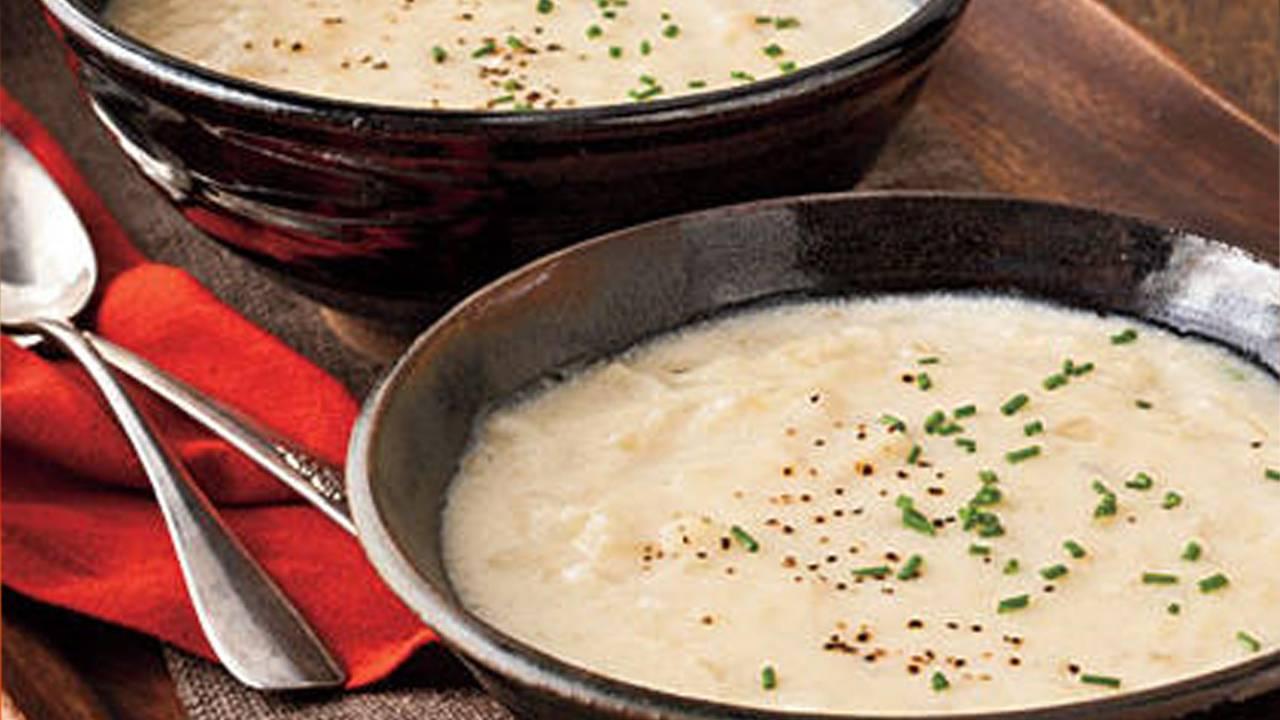 Zuppa di cipolle con patate