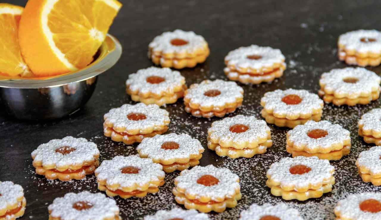 Biscottini di frolla all'arancia farciti ricettasprint