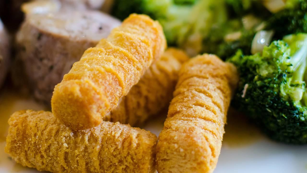 polpette fritte con verdure