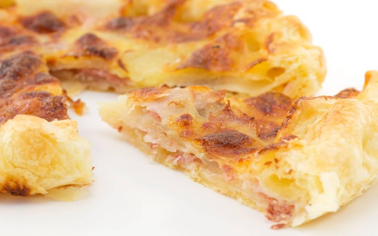 torta salata con prosciutto FOTO ricettasprint