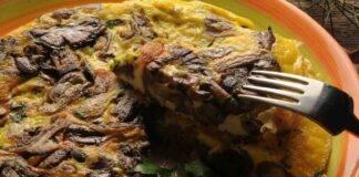 frittata funghi formaggio uovo