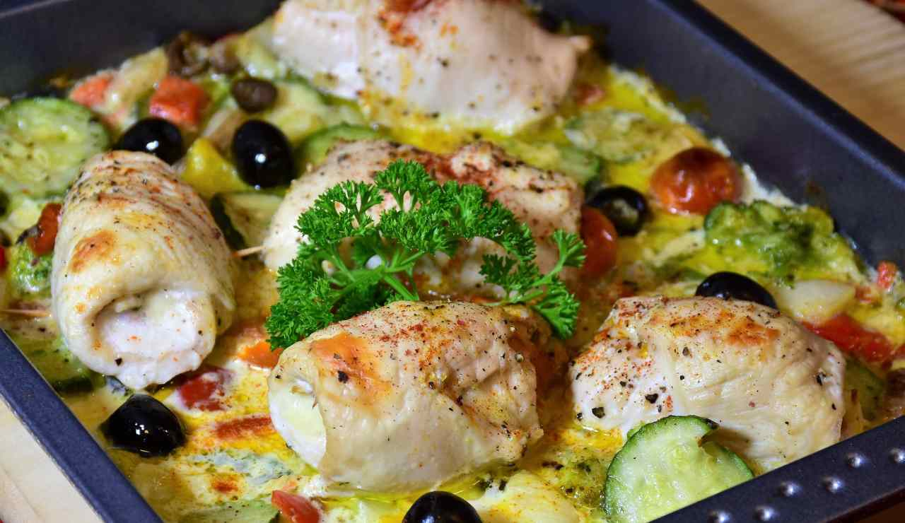 Involtini di pollo con verdure e besciamella ricettasprint