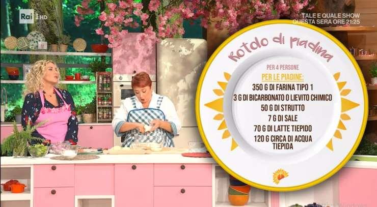 Rotolo di piadina romagnola ricettasprint