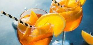 spritz acqua frizzante alcolico arancia