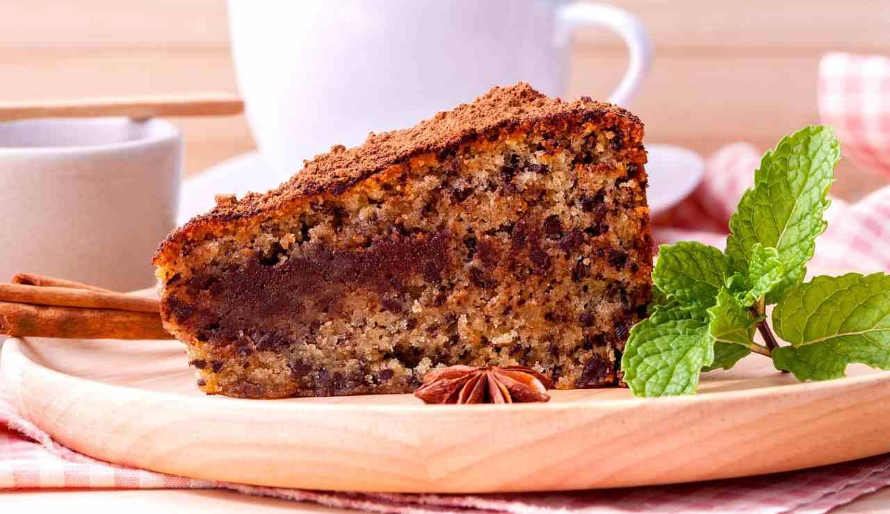 Torta di noci cannella e gocce di cioccolato ricettasprint
