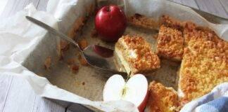 Torta croccante alle mele