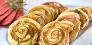 Rotolo di patate e prosciutto cotto in crosta