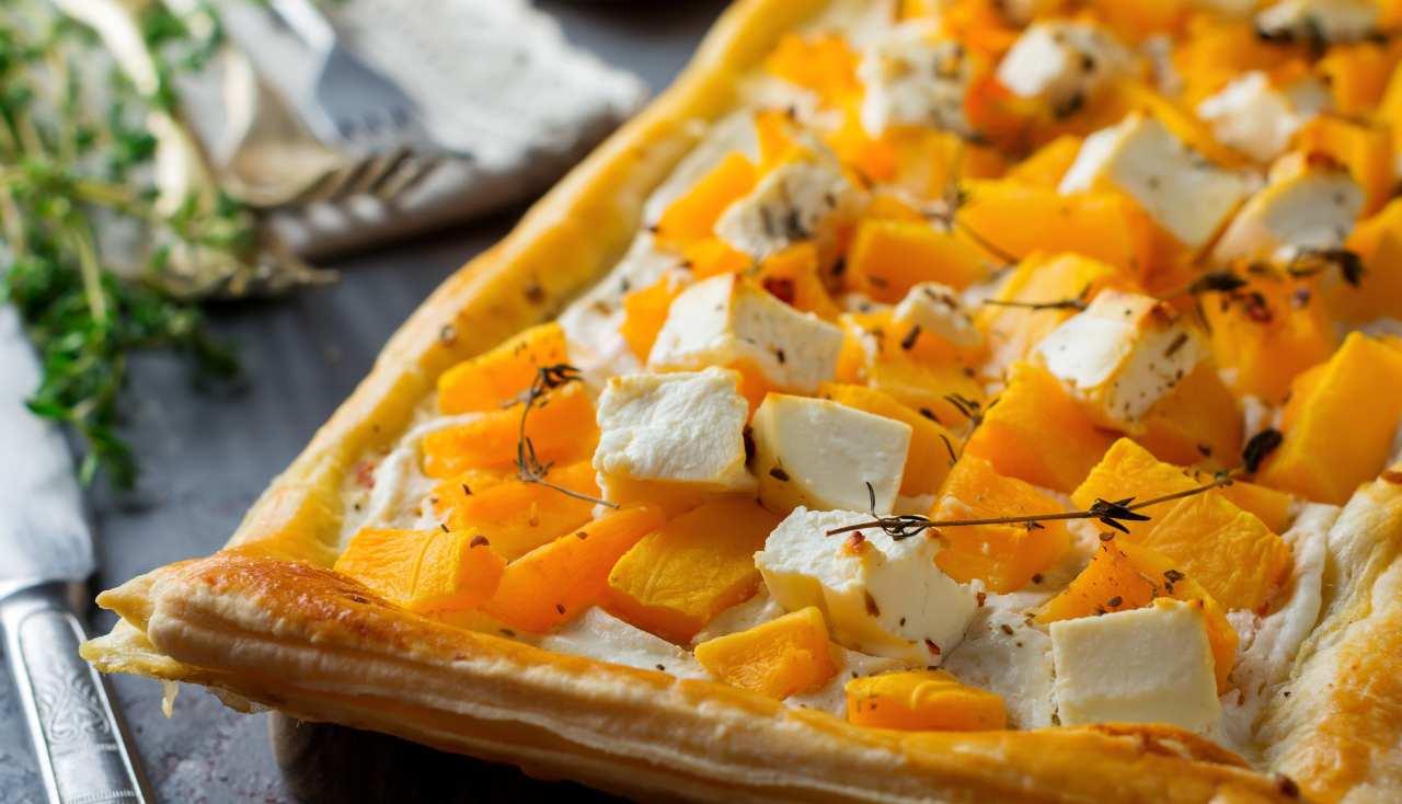 sfoglia con zucca formaggi e timo ricettasprint