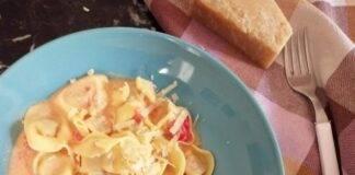 Tortelini in crema di pomodorini e parmigiano