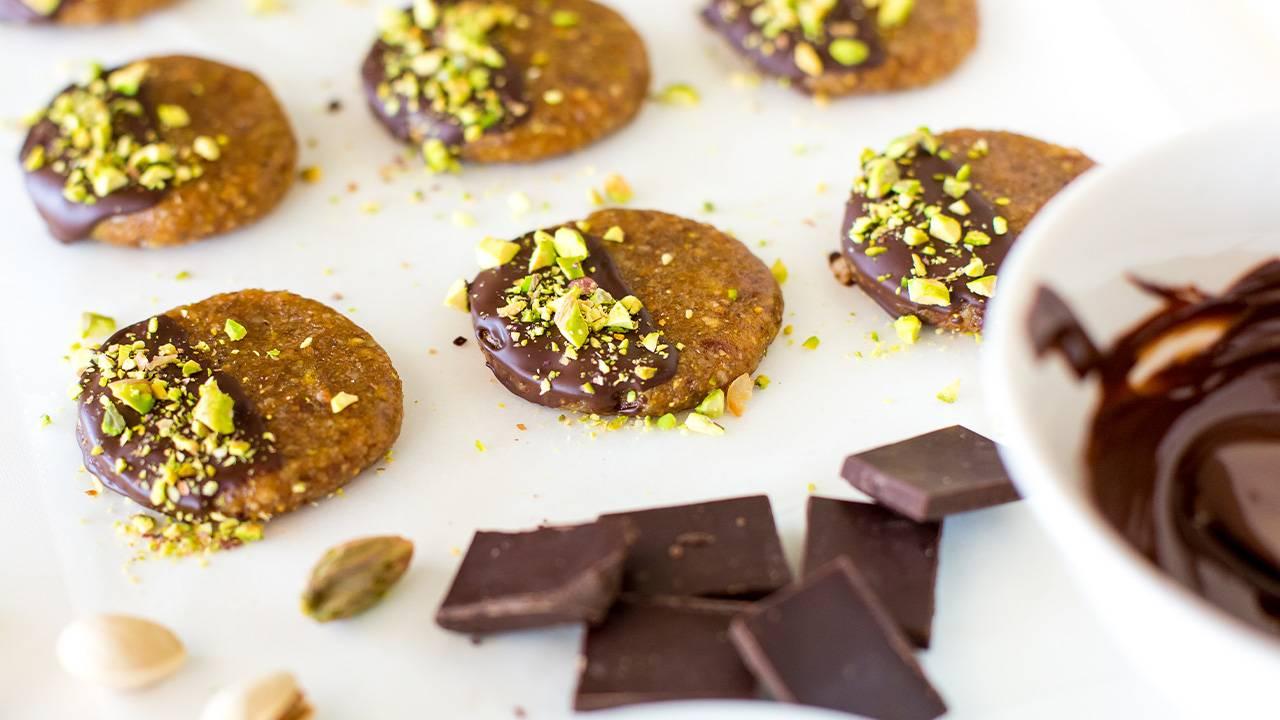 dolcetti pistacchio e cioccolato fondente