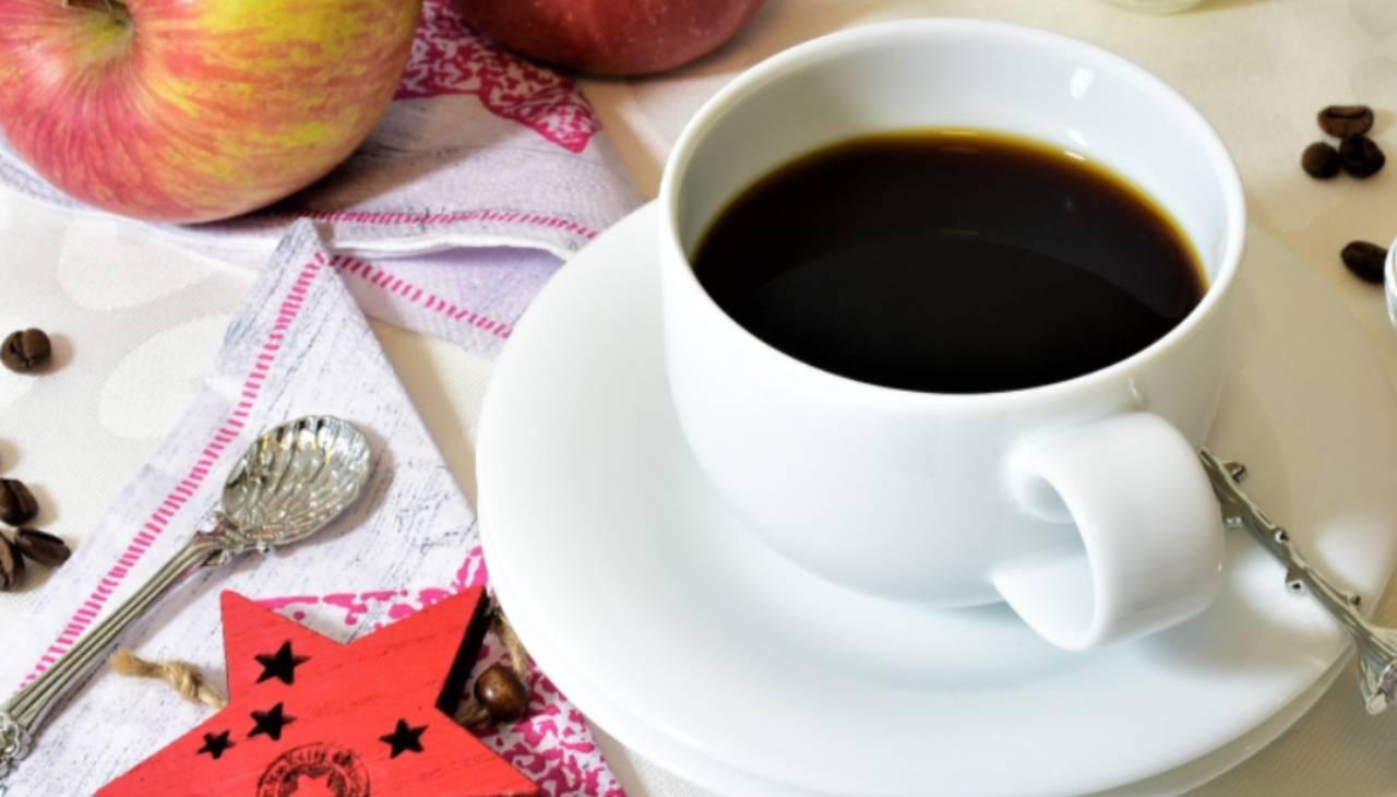 caffè bevanda calda nera fragola