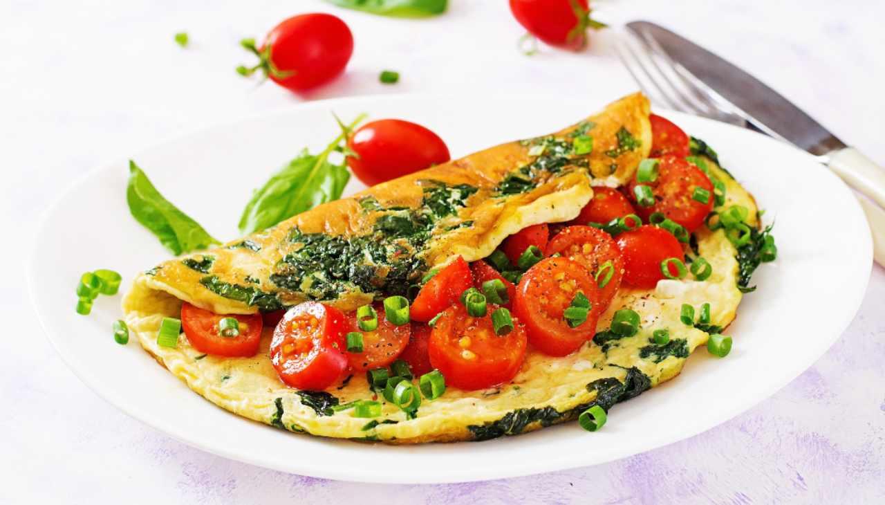 omelette uovo secondo verdure cipollotto