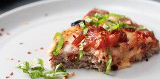 Carne macinata con mortadella pomodorini e formaggio