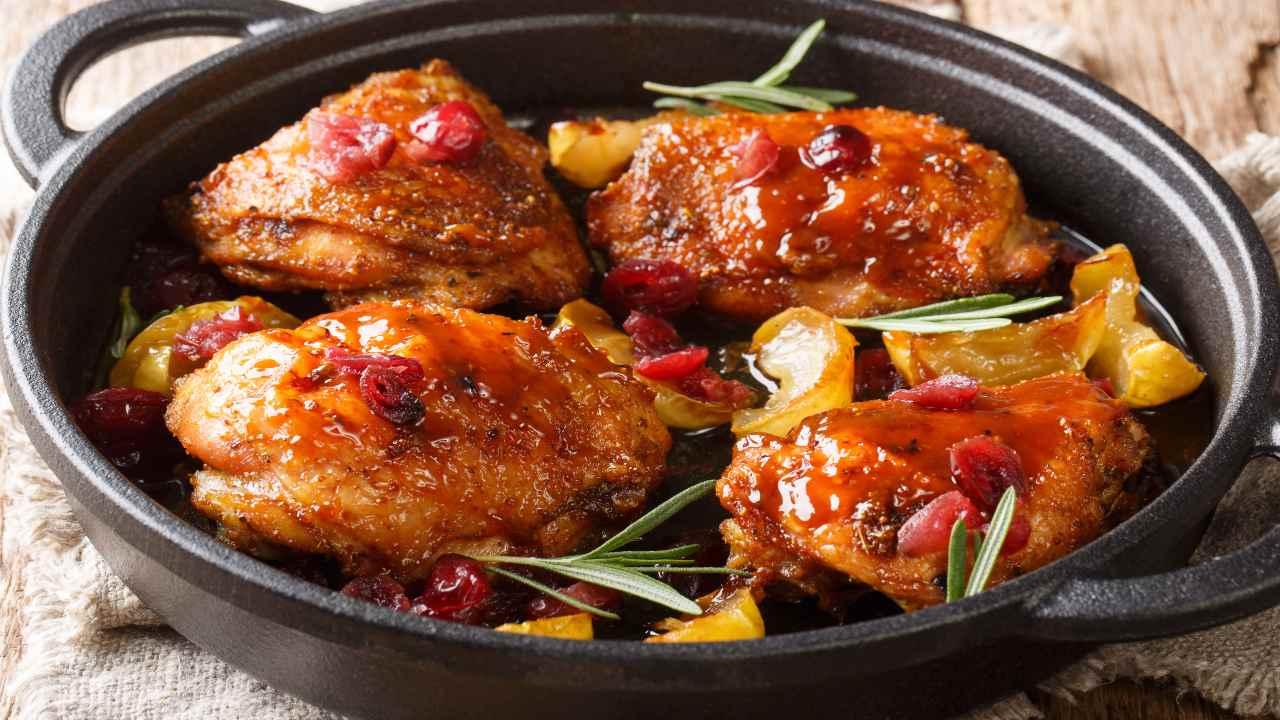 Pollo con cipolle
