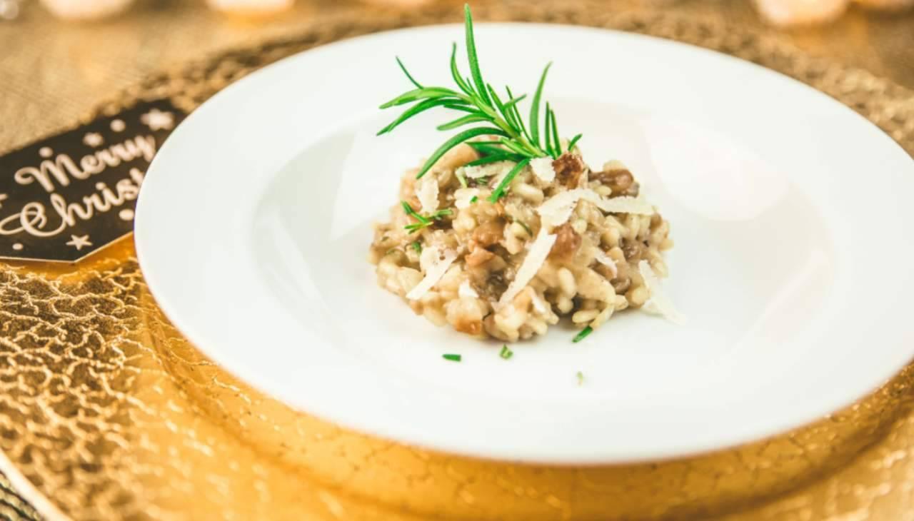Risotto alle castagne rosmarino e lardo di colonnata ricetta