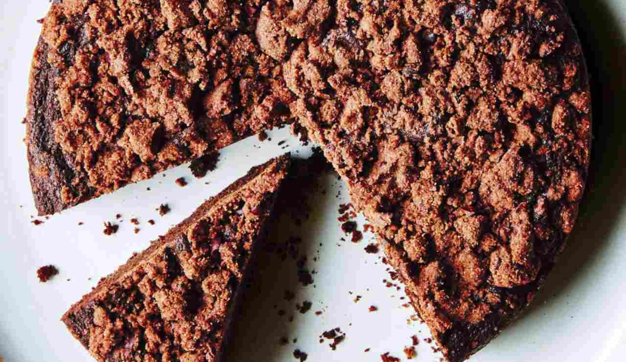 Sbriciolata di cioccolato con nocciole e Nutella ricettasprint