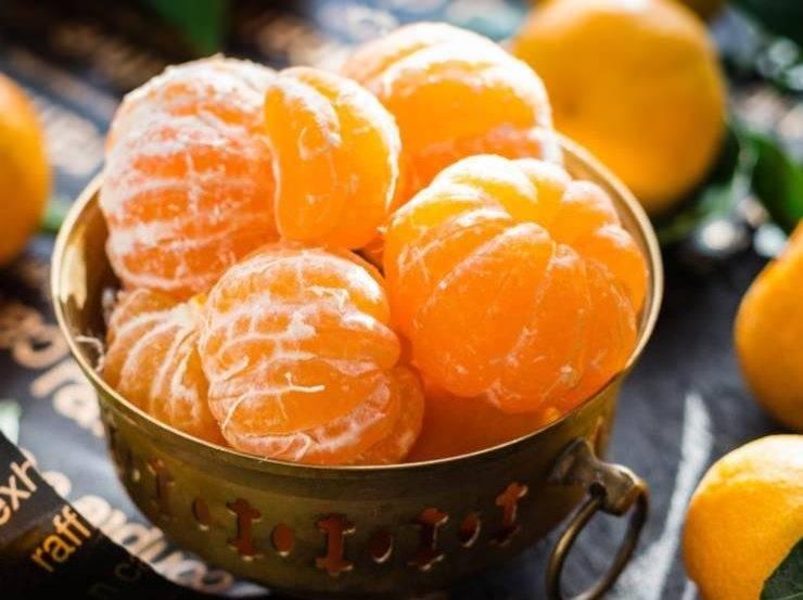 Dolce con mandarino