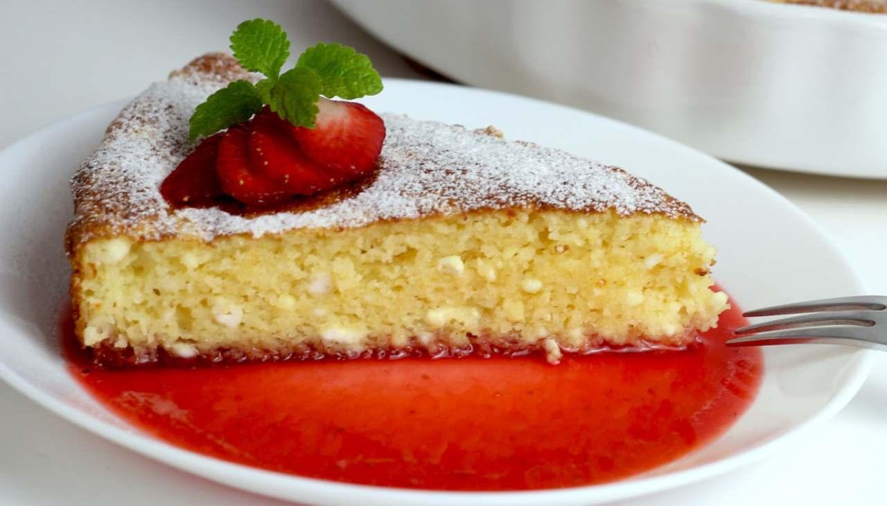 torta Margherita veloce frutta