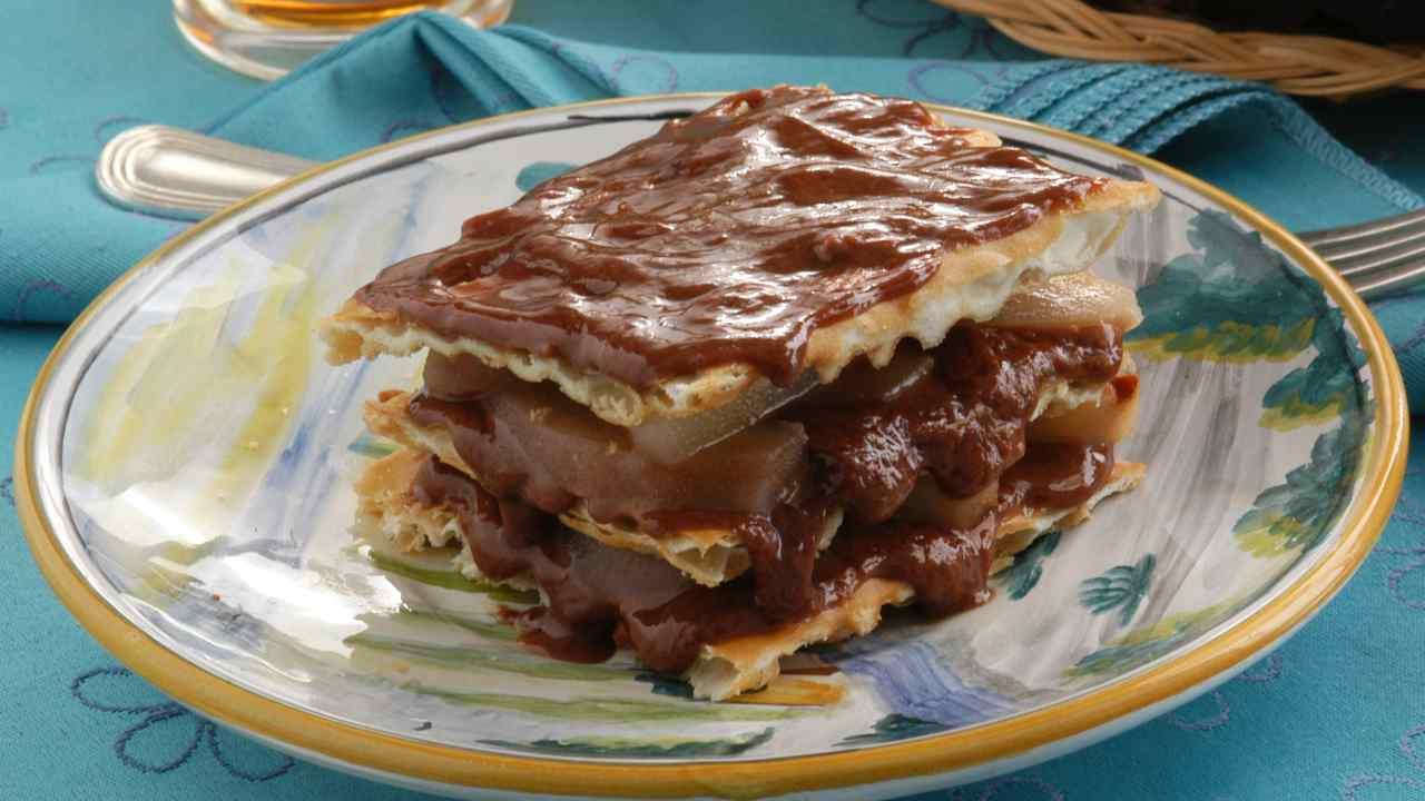 Torta Millefoglie con crema al cacao