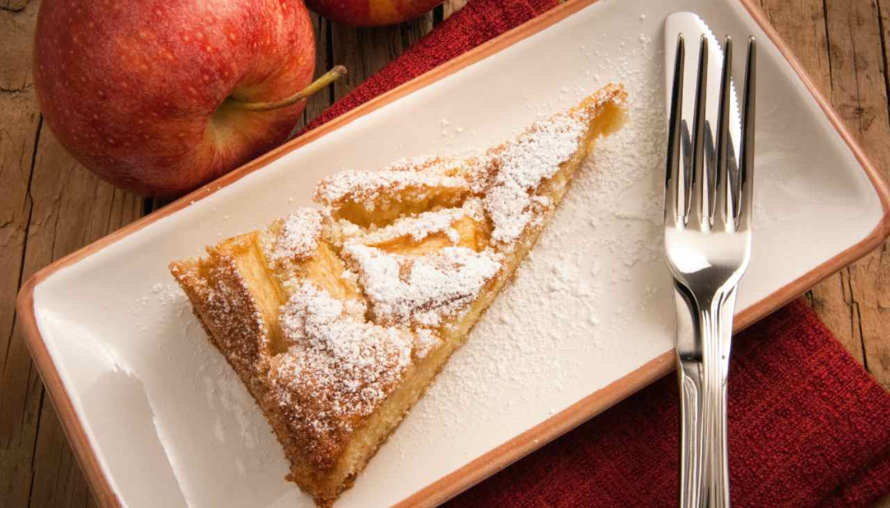 torta mela mousse veloce