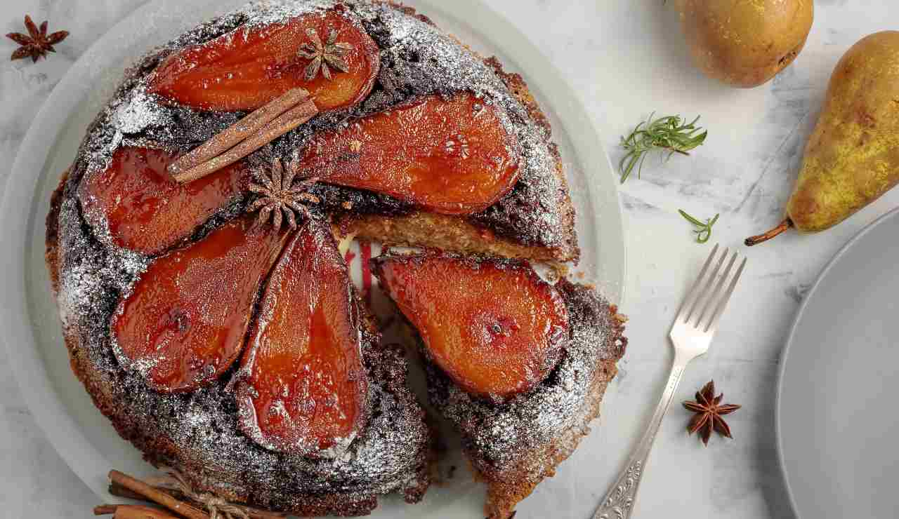 Torta di pere glassate con farina di castagne ricettasprint