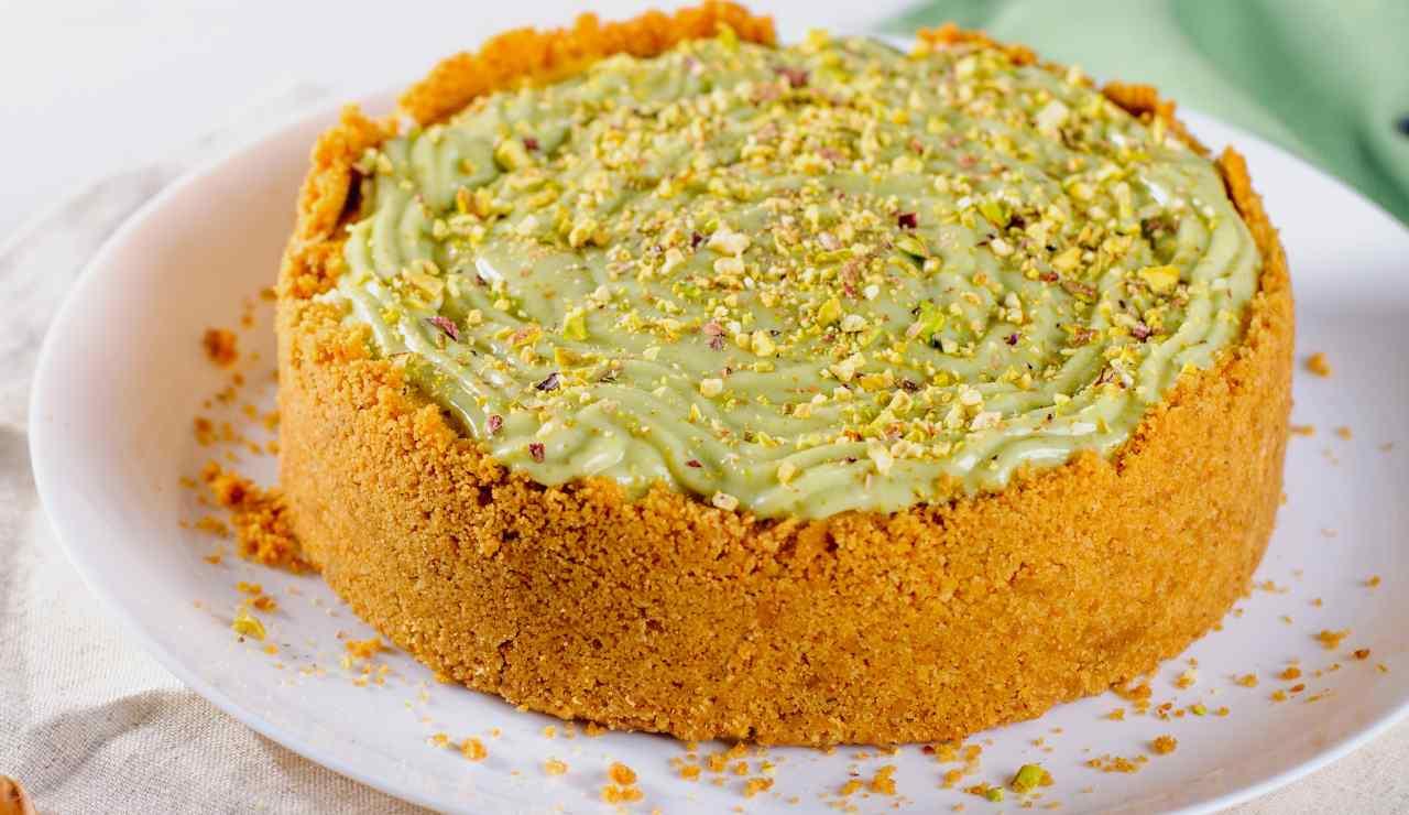cheesecake alla crema di mascarpone e pistacchio ricettasprint