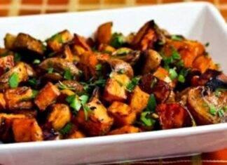 patate e funghi arrosto ricettasprint