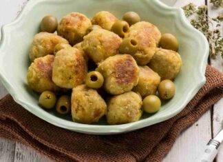 Polpette di maiale con olive e provola