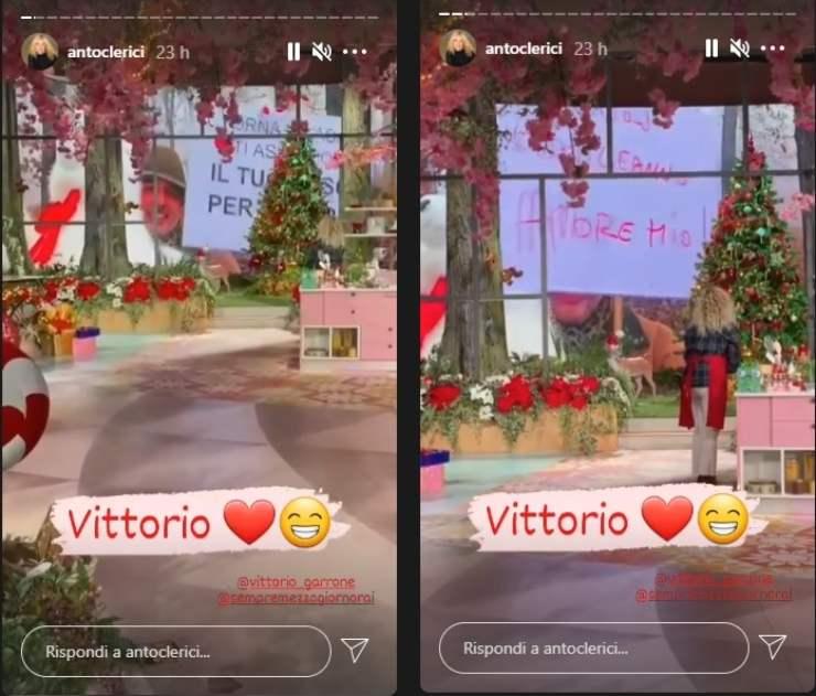 Antonella Clerici emozionata e felice sorpresa di Vittorio ricettasprint
