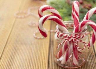 Bastoncini di Natale alla menta