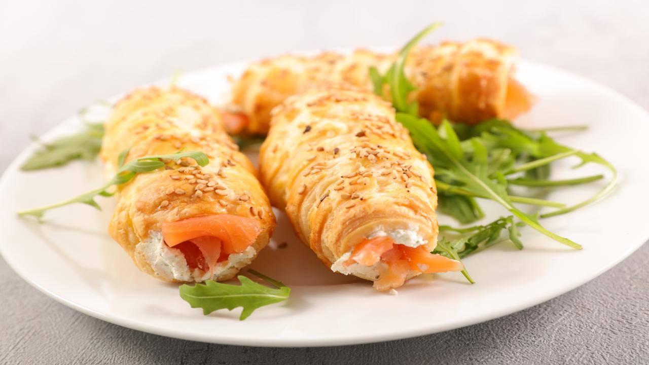 Rotoli con salmone