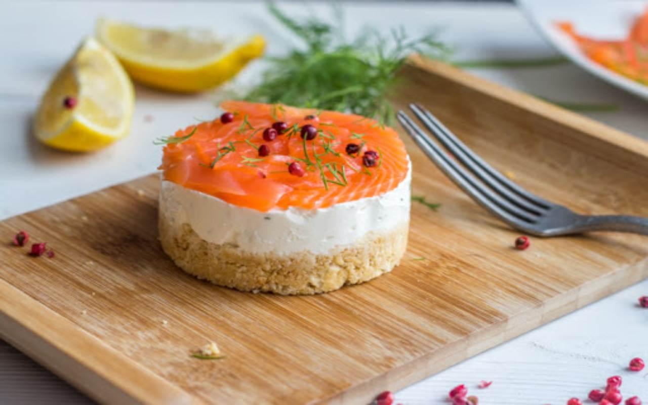 cheesecake salmone ricotta ricetta FOTO ricettasprint