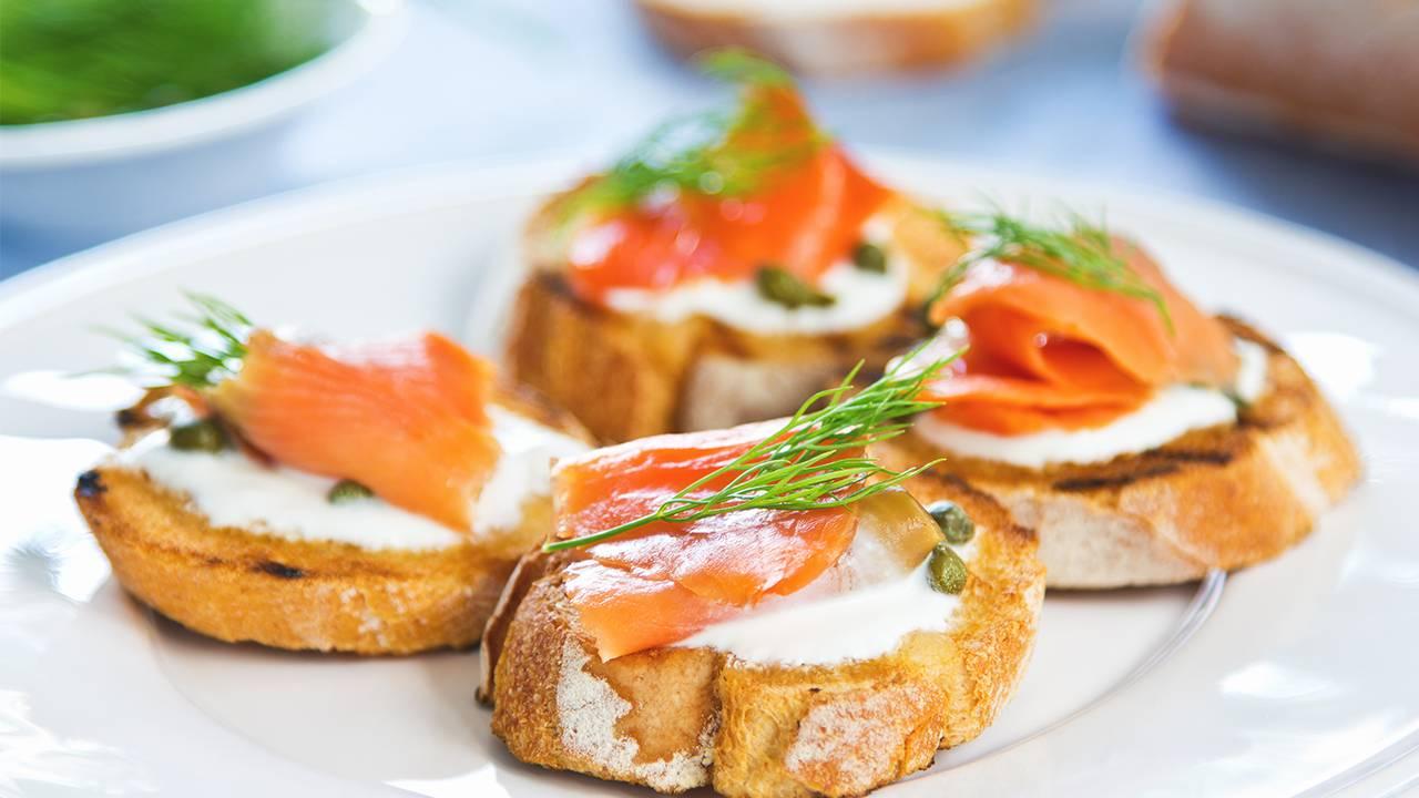 antipasto salmone e formaggio