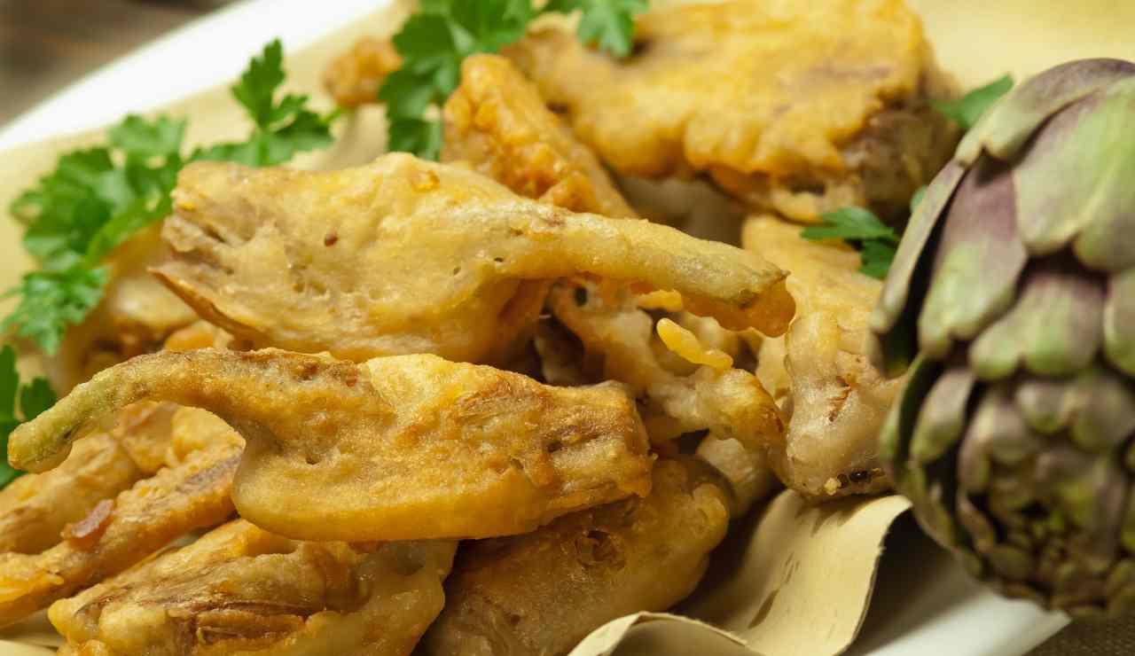 Cucinare i carciofi ricetta per una frittura leggera asciutta e croccante ricettasprint