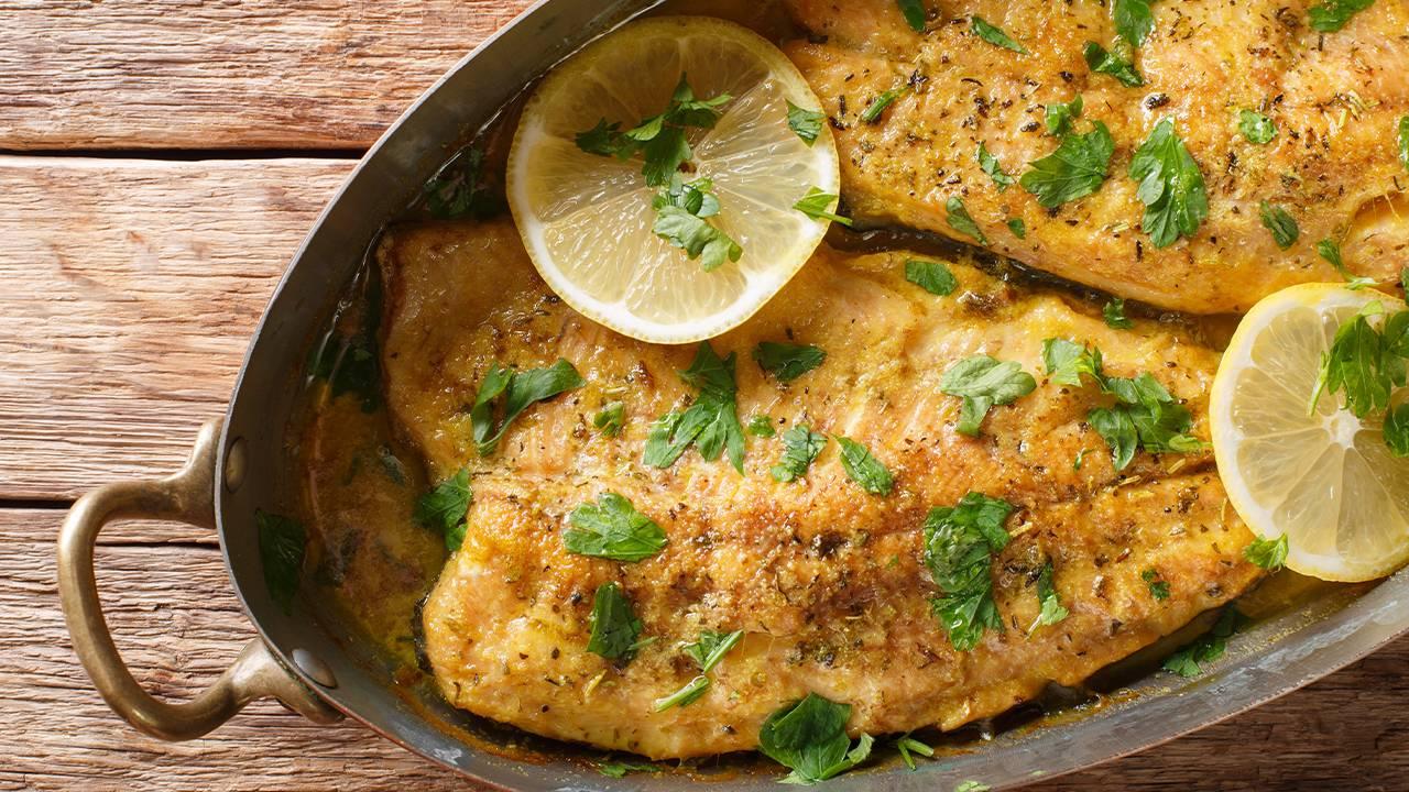 pesce al forno con limone