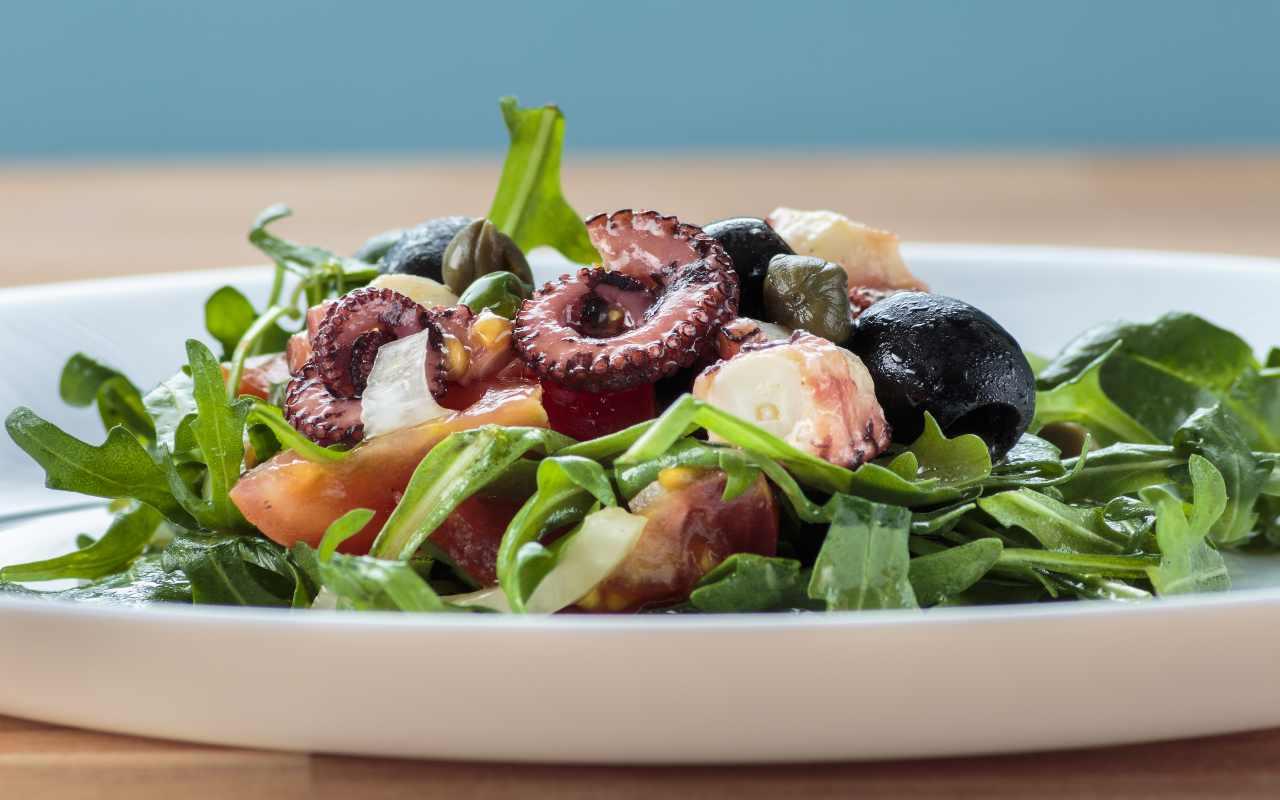 insalata polpo olive ricetta FOTO ricettasprint