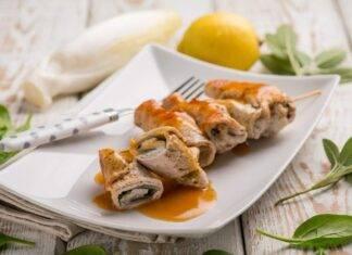involtini pollo slavia ricetta FOTO ricettasprint
