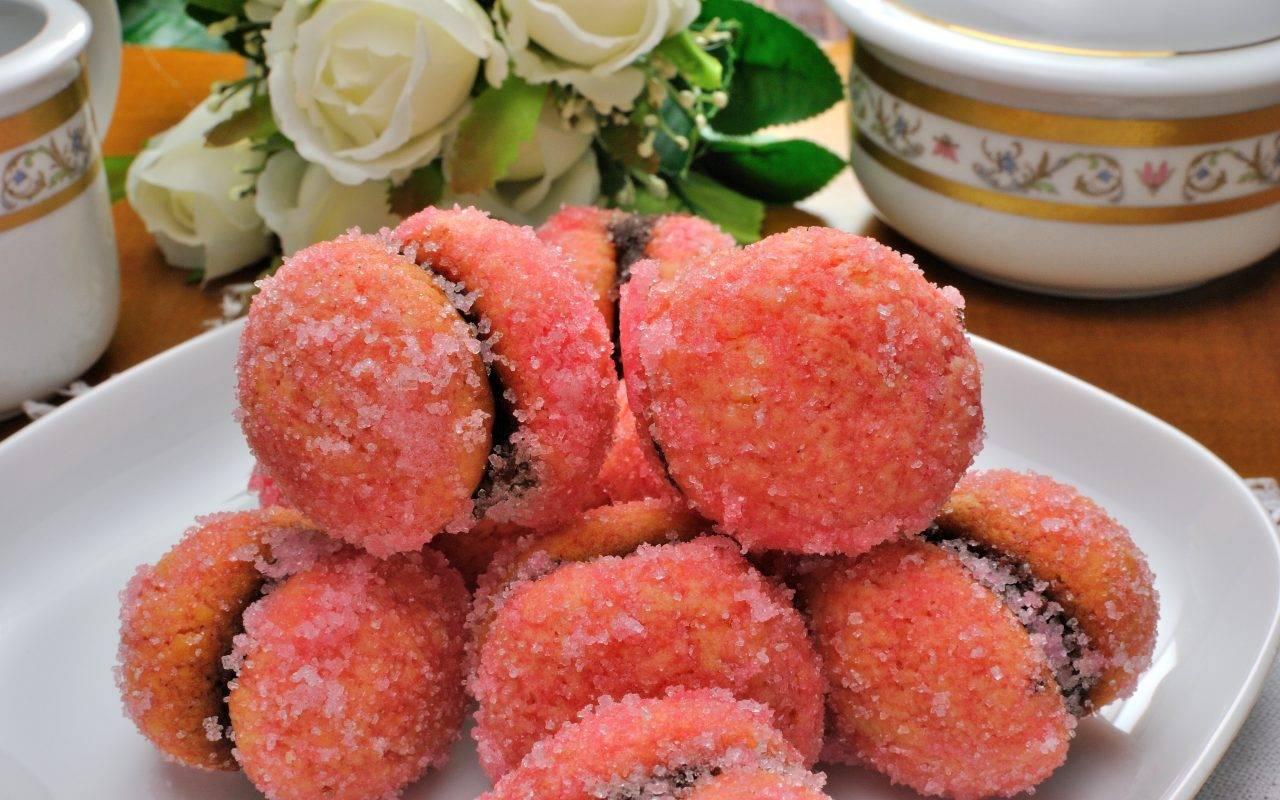 pesche dolci crema ricetta FOTO ricettasprint