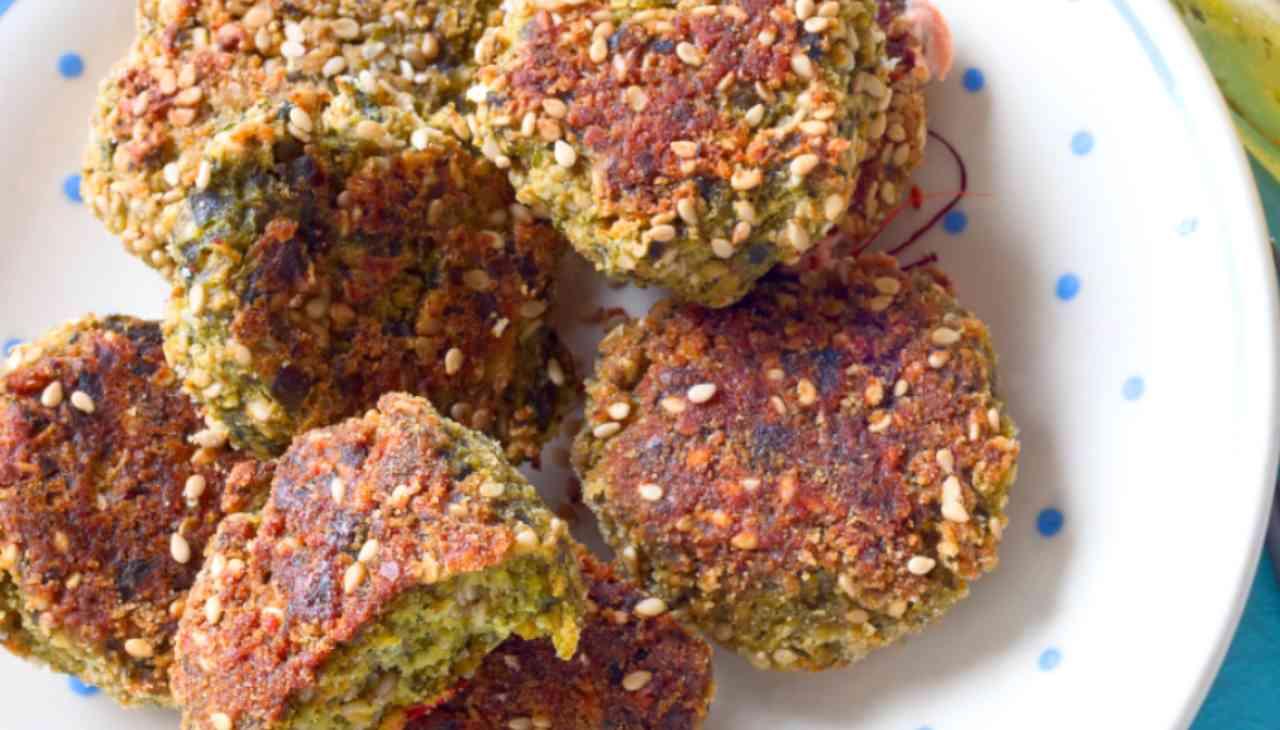 Polpette vegetariane al sesamo ricetta