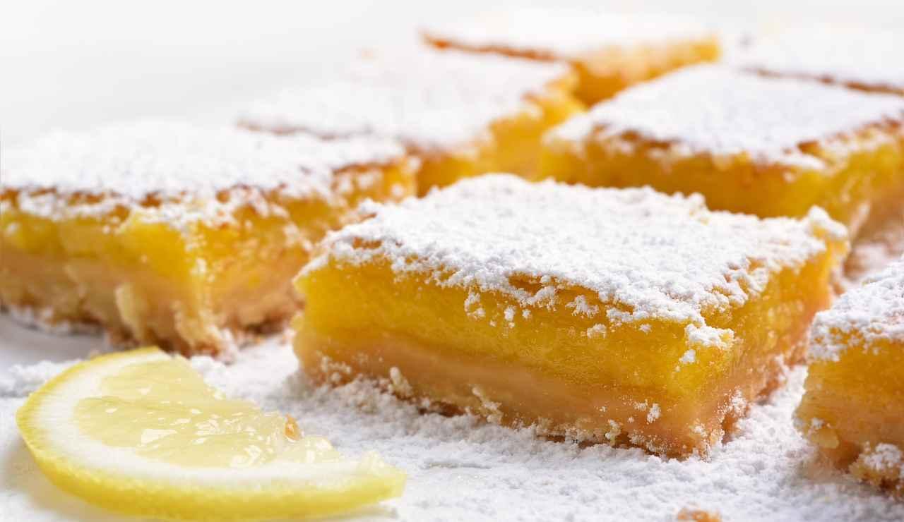 Quadratini di mandorle e limone ricettasprint