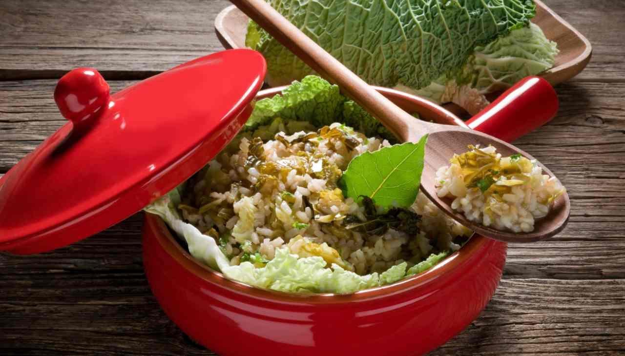 Risotto verza e tofu ricetta