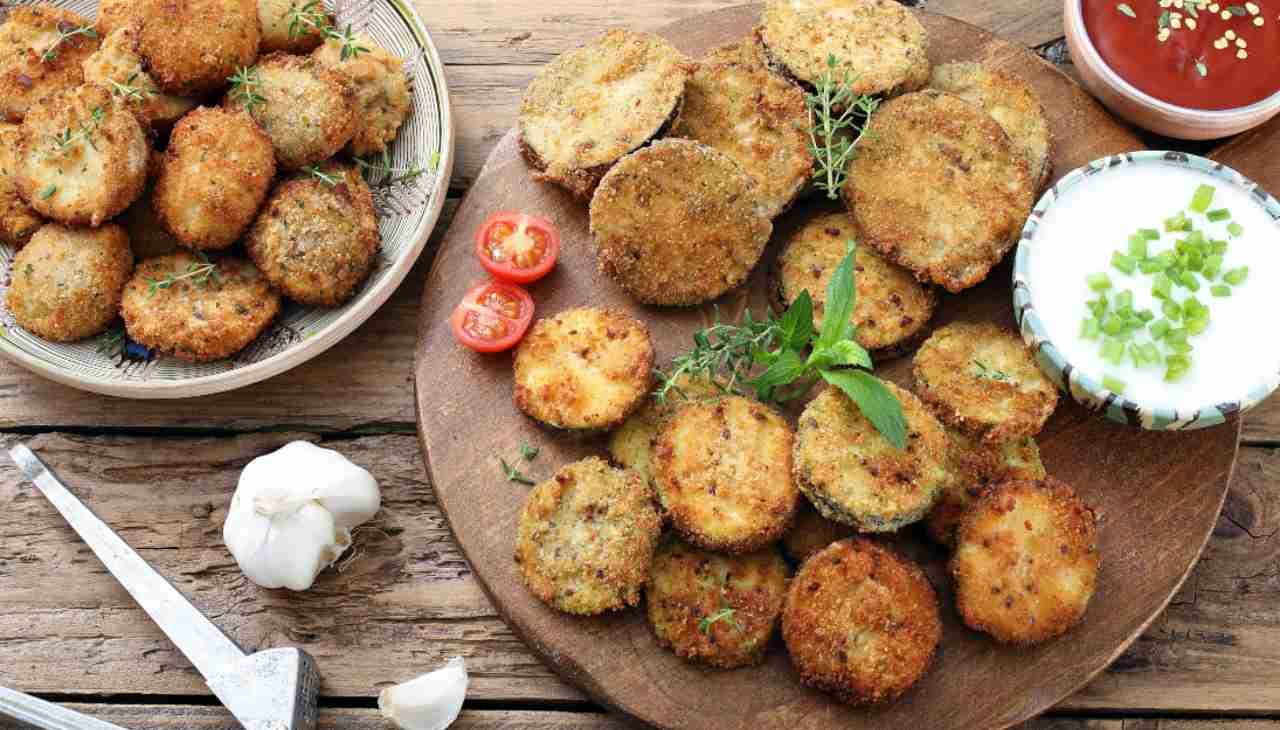 Rondelle di verdure al forno gratinate ricetta